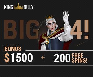 Latest bonus from King Billy Casino